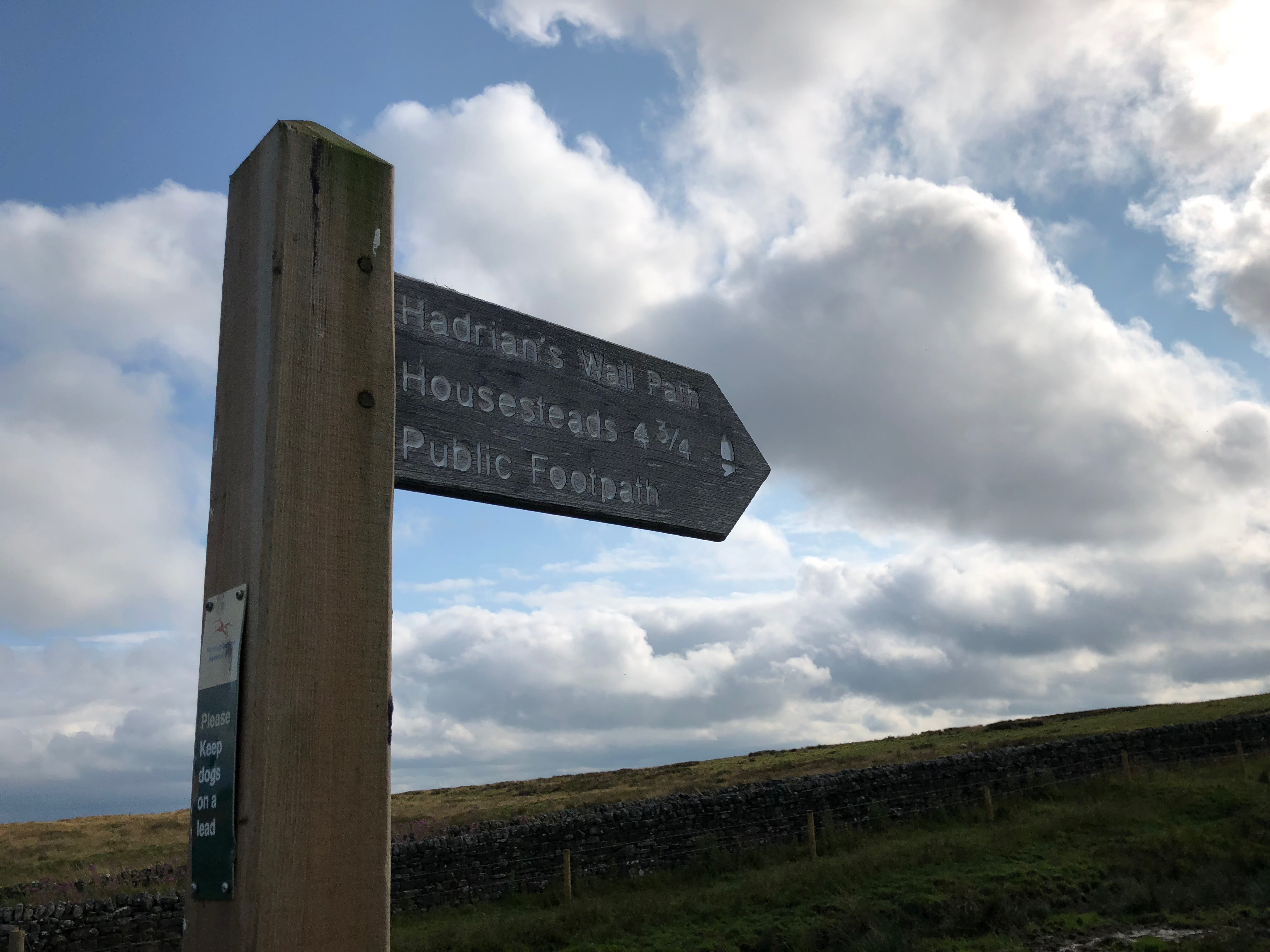 Signpost at Hadrian's Wall